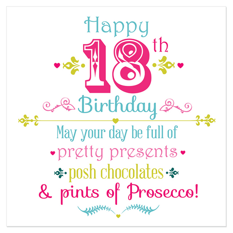 Happy 18th Birthday... - Juicy Lucy Designs