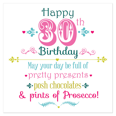 Happy 30th Birthday... - Juicy Lucy Designs