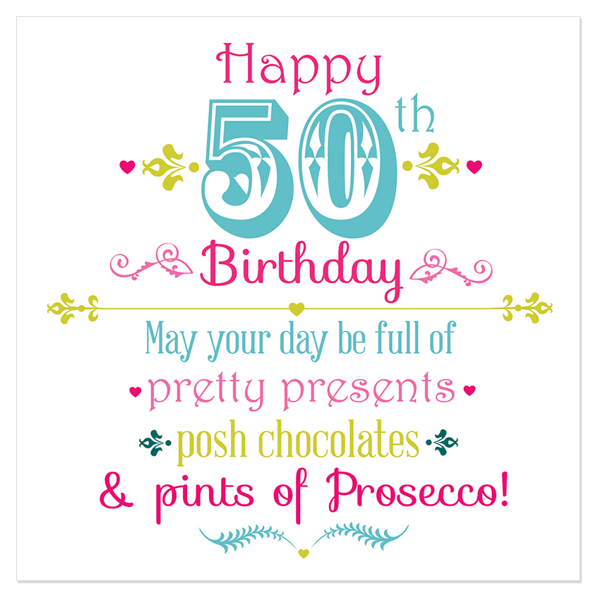 Happy 50th Birthday Juicy Lucy Designs