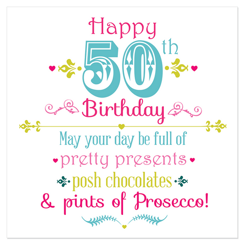 Happy 50th Birthday... - Juicy Lucy Designs