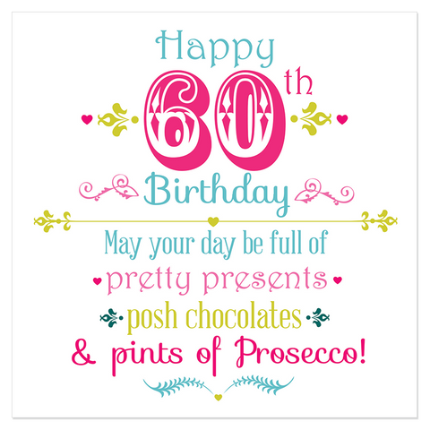 Happy 60th Birthday... - Juicy Lucy Designs
