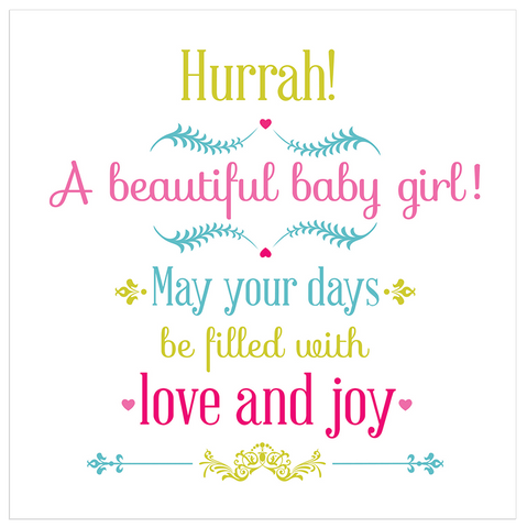 Hurrah! A beautiful baby girl! - Juicy Lucy Designs