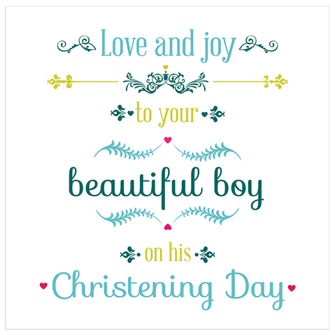 Love and joy to your beautiful boy on his Christening Day! - Juicy Lucy Designs