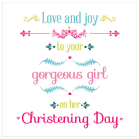 Love and joy to your gorgeous girl on her Christening Day! - Juicy Lucy Designs