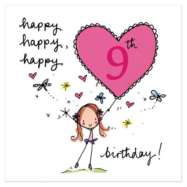 Daughter S 9th Birthday Quotes: Happy, Happy, Happy 9th Birthday!
