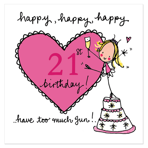 Happy, happy, happy 21st birthday! - Juicy Lucy Designs