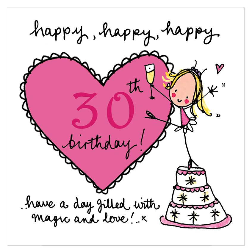 Happy, happy, happy 30th birthday! – Juicy Lucy Designs