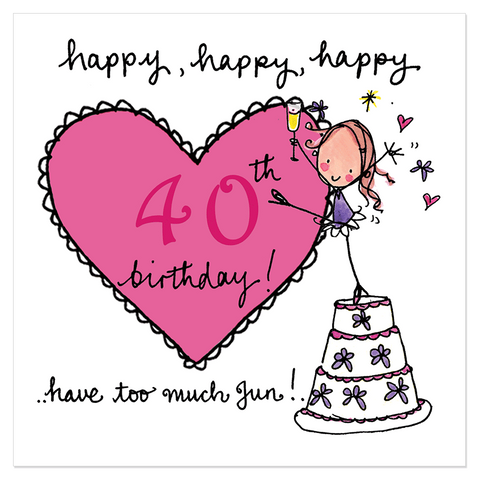 Happy, happy, happy 40th birthday! - Juicy Lucy Designs