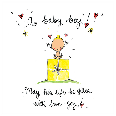 A baby boy! May his life be filled with love and joy! - Juicy Lucy Designs