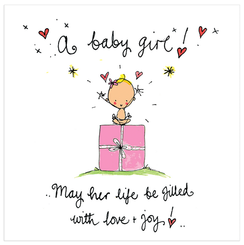 A baby girl! May her life be filled with love and joy! - Juicy Lucy Designs
