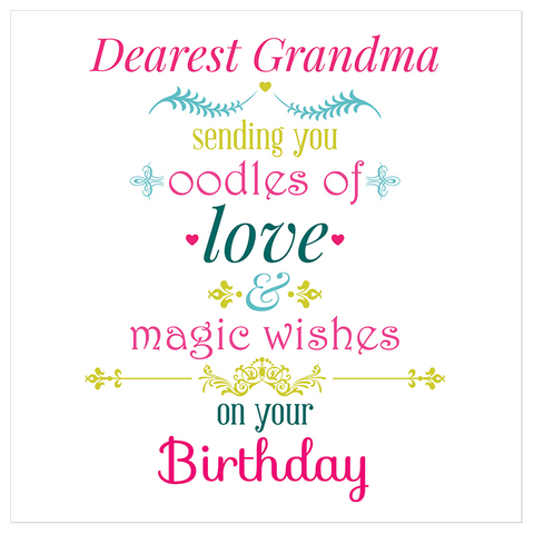 Dearest Grandma! Sending you oodles of love! - Juicy Lucy Designs