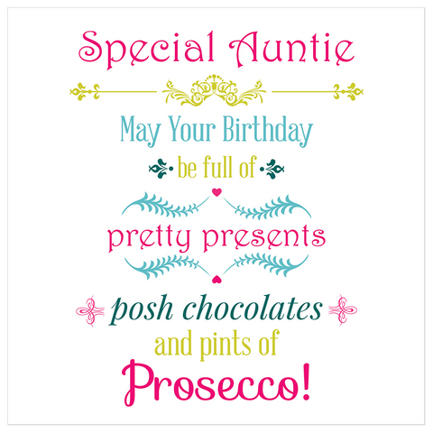 Special Auntie may your birthday... - Juicy Lucy Designs