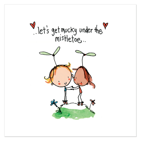 Let's get mucky under the mistletoe... - Juicy Lucy Designs