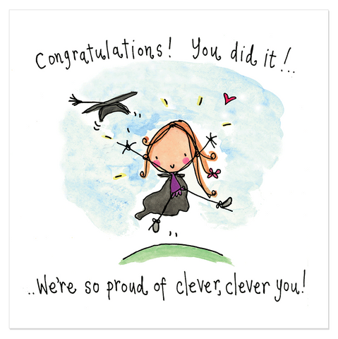 Congratulations! You did it!! ..We're so proud of clever, clever you! - Juicy Lucy Designs
