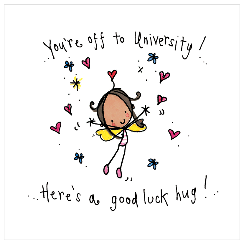You're off to University! Here's a good luck hug!