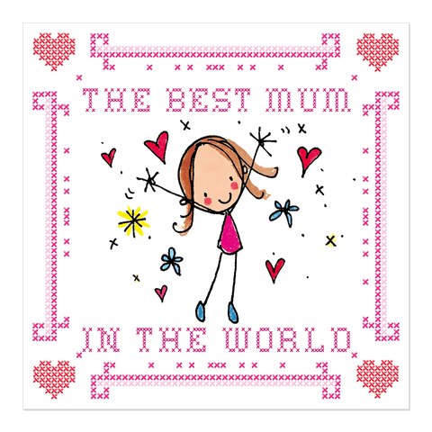 The Best Mum in the World! - Juicy Lucy Designs