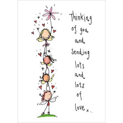 Thinking of you and sending lots of Love - Juicy Lucy Designs
