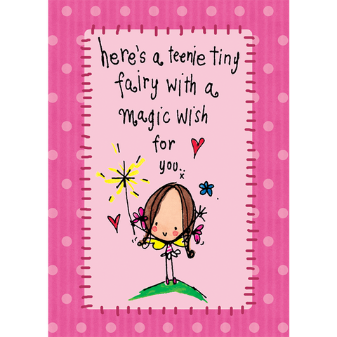 Here's a teenie tiny fairy with a magic wish for you! - Juicy Lucy Designs