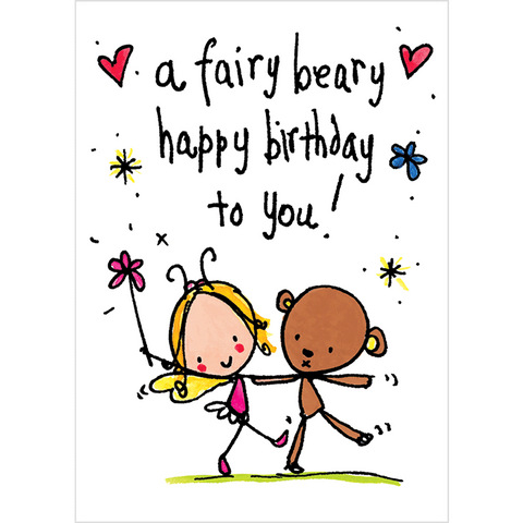 A fairy beary happy birthday to you! - Juicy Lucy Designs