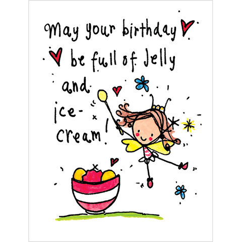 May your Birthday be full of jelly and ice cream! - Juicy Lucy Designs