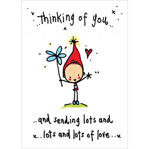 Thinking of you and sending lots and lots of love! - Juicy Lucy Designs
