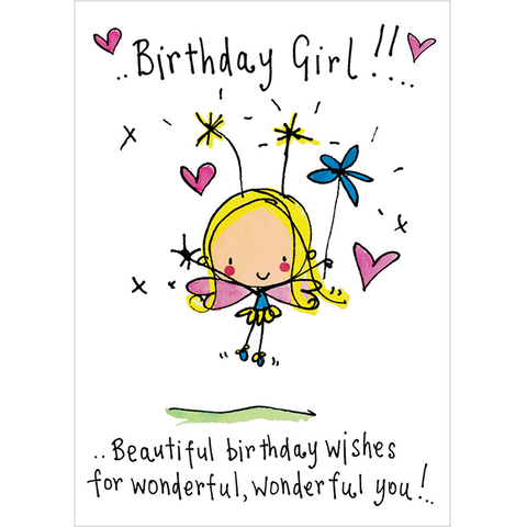 Birthday Girl!! Beautiful birthday wishes for wonderful wonderful wonderful you! - Juicy Lucy Designs