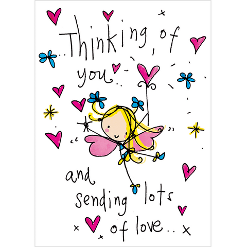 Thinking of you and sending lots of love.. - Juicy Lucy Designs