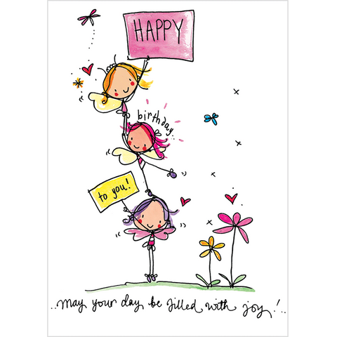 Happy birthday to you! May your day be filled with joy! - Juicy Lucy Designs
