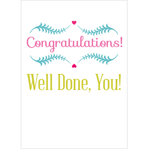 Congratulations! Well Done, You! - Juicy Lucy Designs
