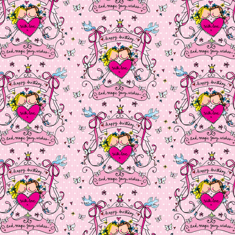 Happy Birthday Crest Flat Wrap - Juicy Lucy Designs