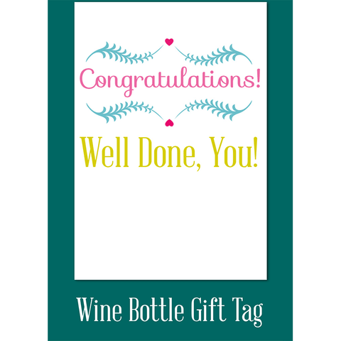 Congratulations well done, you! - Juicy Lucy Designs