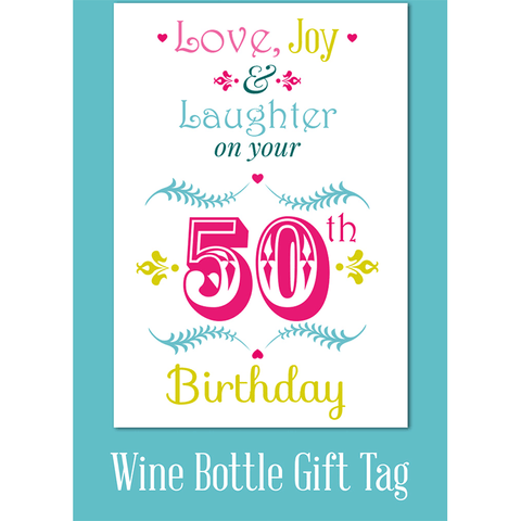 Love Joy Laughter On Your 50th Birthday