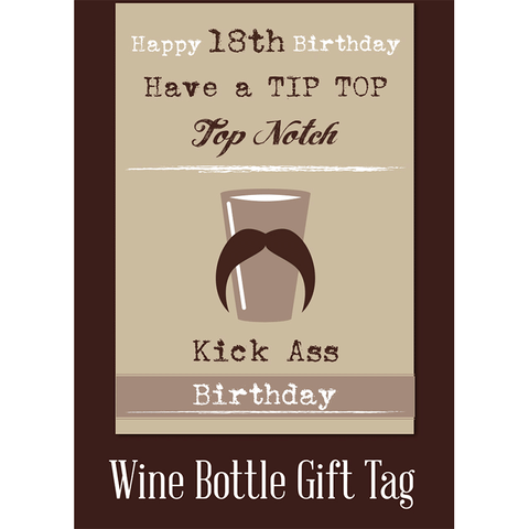 Happy 18th birthday have a tip top top notch kick ass birthday! - Juicy Lucy Designs
