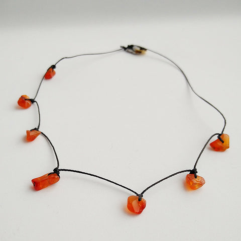 Guardian Angel Necklace - For Courage, Confidence & Positive Energy (Carnelian)