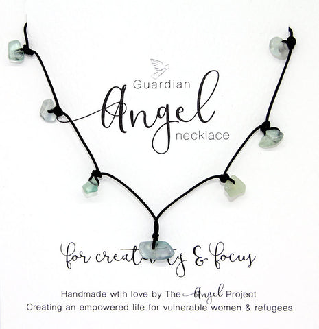 Guardian Angel Necklace - For Creativity & Focus (Fluorite)