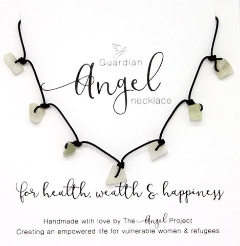 Guardian Angel Necklace - For Health, Wealth & Happiness (Jade)