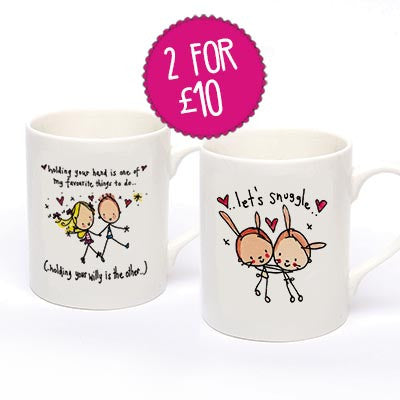 2 for £10 'Let's snuggle' & 'Holding your hand is one of my favourite things to do...' - Juicy Lucy Designs  - 1