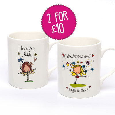 2 for £10 'I love you Nan' & 'Cake, Kisses and Magic wishes' - Juicy Lucy Designs  - 1