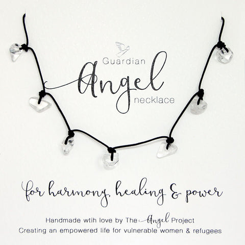 Guardian Angel Necklace - For Harmony, Healing & Power (Quartz)