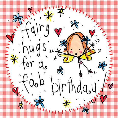 Fairy hugs for a fab birthday! - Juicy Lucy Designs