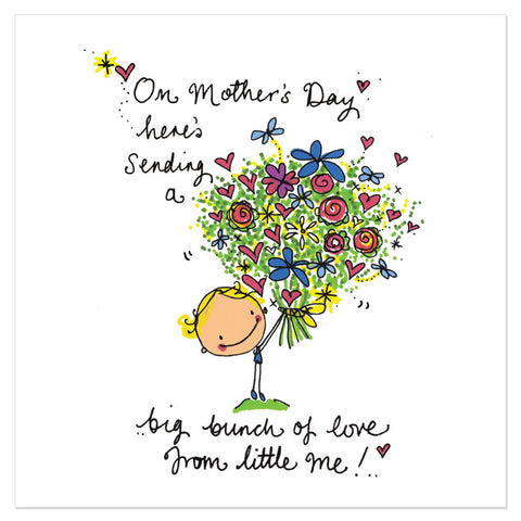 On Mother's Day here's sending a big bunch of love from little me!