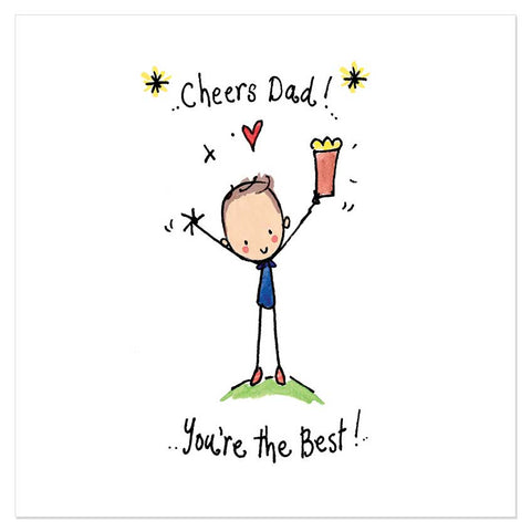 Cheers Dad! You're the Best! - Juicy Lucy Designs
