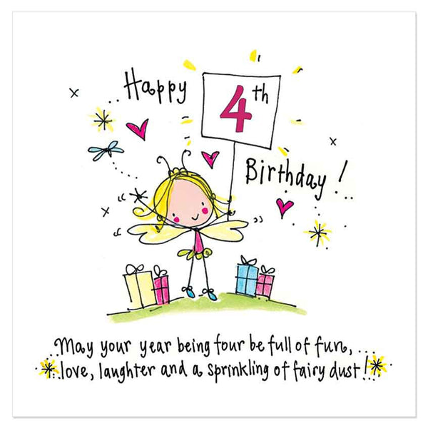 Happy 4th Birthday To You! May Your Year Being Four Be