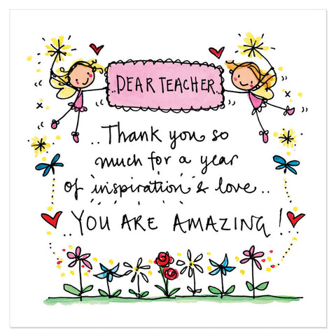 Dear teacher... Thank you so much