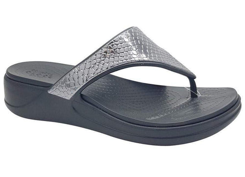 Crocs Monterey Metallic Wedge Flip 206303