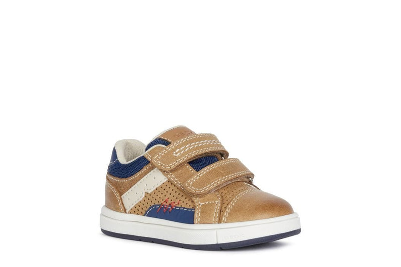 Geox Kids 4.5UK / TAN Geox Infant Boys Trottola Boys Shoes B1543A
