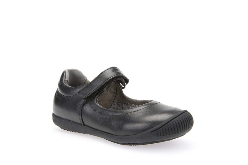 Geox Kids Geox Girls Black Leather School Shoes J643CA