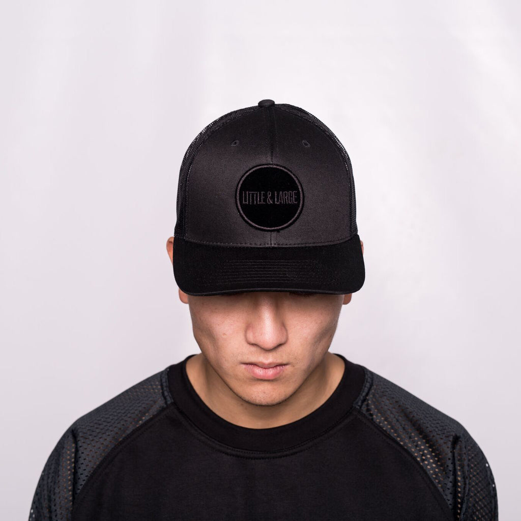 Black curved peak Snap Back 4.0