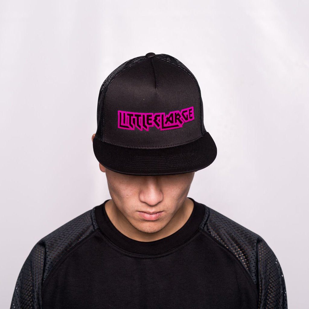Iron Black Snap Back Pink on Black