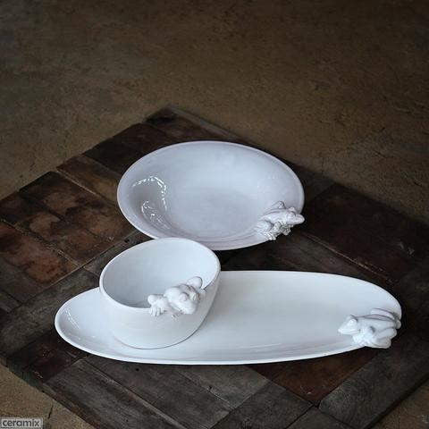 Ceramic Frog Bowls and Platters by Ceramix